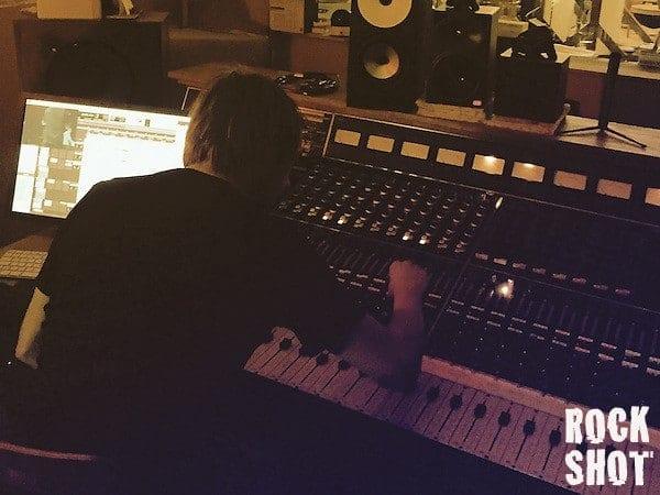Bror Forsgren at work on the new album (RockShot/Bror Forsgren)