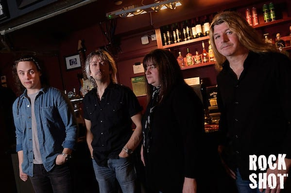 Chris Buck, Sally Ann Evans, Dominic Hill and Bob Richards of Buck and Evans ahead of their Slow Train single release show at The Half Moon Putney, 6th November 2015 (Simon Reed)
