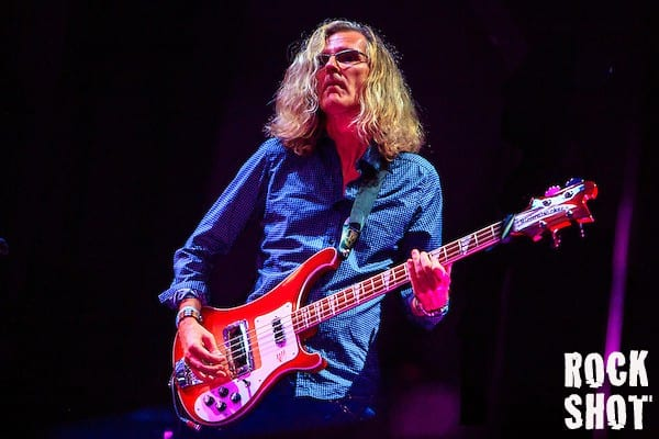 Roine Stolt plays bass with former Genesis guitarist Steve Hackett who plays songs from Acolyte To Wolflight with Genesis Revisited. (Simon Jay Price)