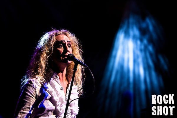 Nad Sylvan sings with former Genesis guitarist Steve Hackett plays songs from Acolyte To Wolflight with Genesis Revisited. (Photographer Simon Jay Price)
