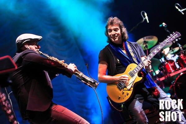 Rob Townsend plays with former Genesis guitarist Steve Hackett plays songs from Acolyte To Wolflight with Genesis Revisited. (Photographer Simon Jay Price)