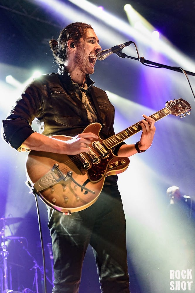 Hozier performing at Portsmouth Guildhall on 4 February 2016 (Simon Reed)