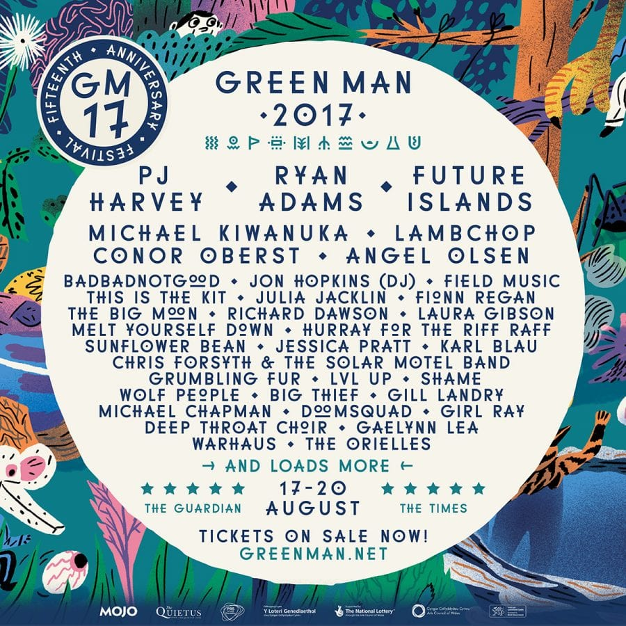 Festival: PJ Harvey, Ryan Adams and Future Islands Headline Green Man 15th.