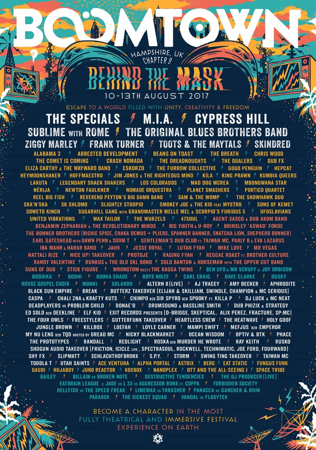 Boom Town Reveal The Specials, Cypress Hill, M.I.A for Chapter 9