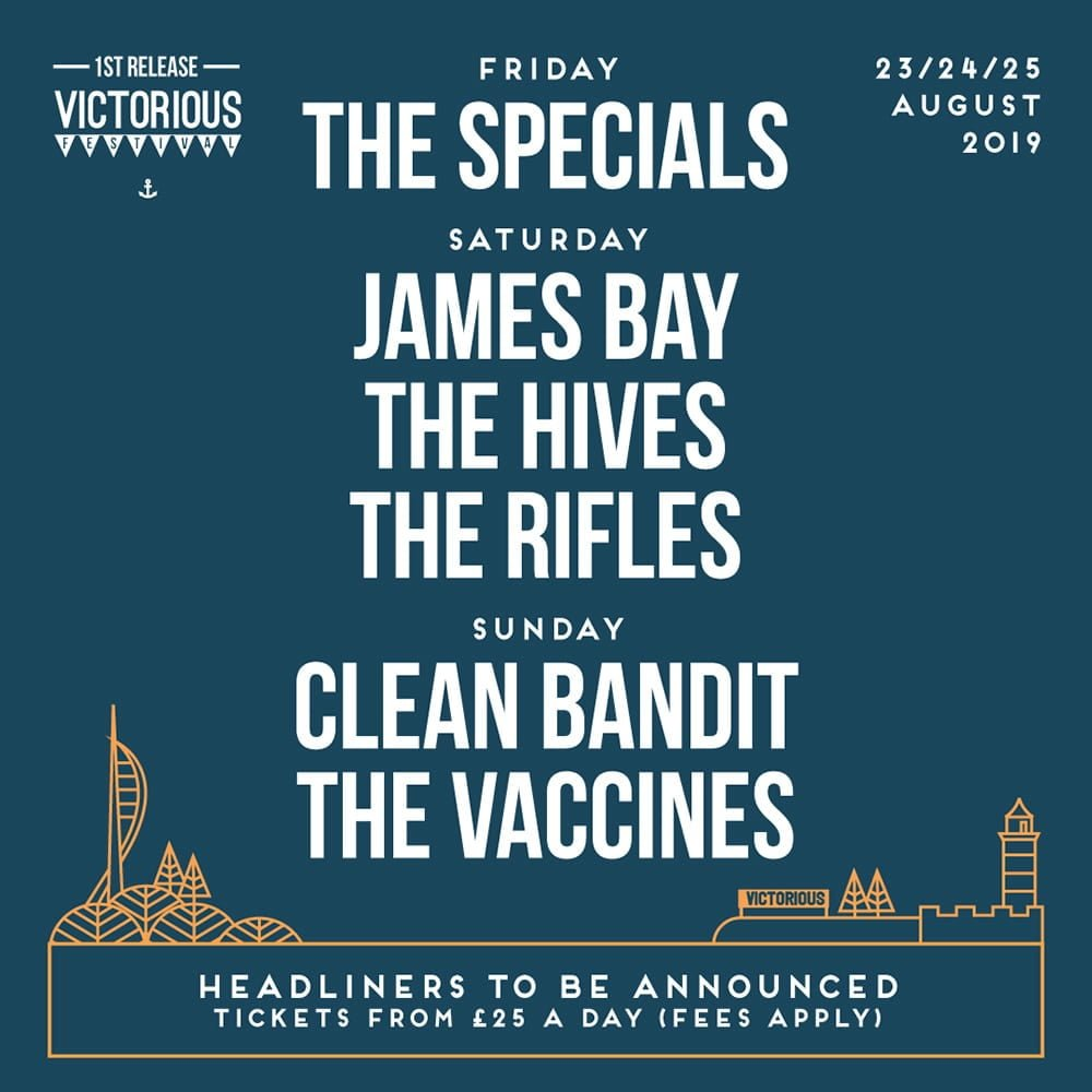 Victorious Festival Announce First Tranche of Acts for 2019