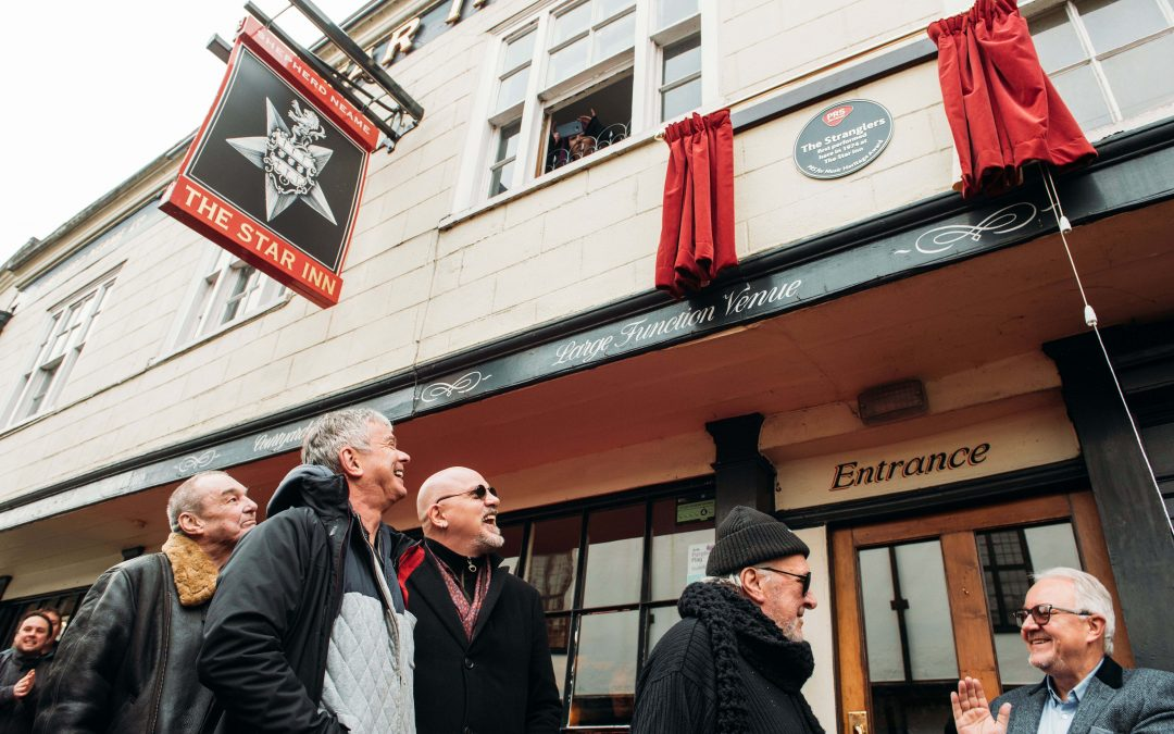 The Stranglers Present The Star Inn With PRS For Music Heritage Award