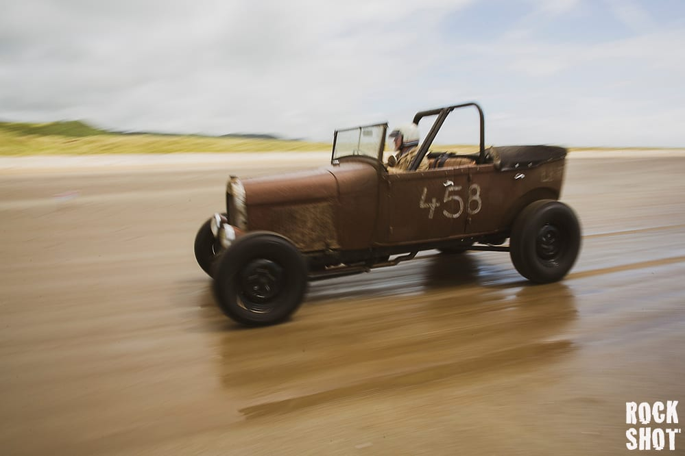 Vintage Hot Rods On Pendine Sands June 2019